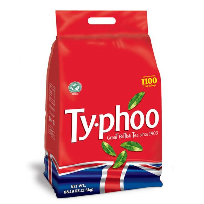 Typhoo Tea 1100 Tea Bags, 2.5Kg Great British Tea Since 1903